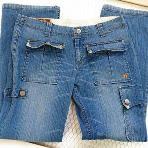 HANG TEN Juniors Size 11 Hippie Jeans 5 Pockets